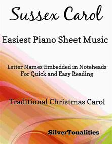Sussex Carol Easiest Piano Sheet Music