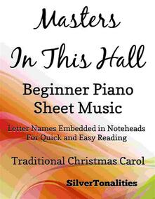 Masters in this Hall Beginner Piano Sheet Music