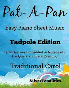 Pat a Pan In G Minor Easy Piano Sheet Music Tadpole Edition