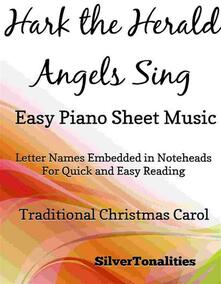 Hark the Herald Angels Sing Easy Piano Sheet Music