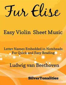 Fur Elise Easy Violin Sheet Music