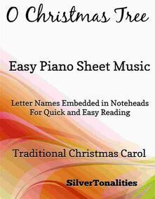 O Christmas Tree Easy Piano Sheet Music