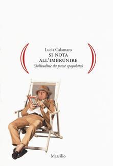 Si nota all'imbrunire (Solitudine da paese spopolato) - Lucia Calamaro - copertina