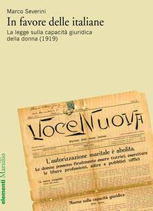 Amatigota.it In favore delle italiane. La legge sulla capacità giuridica della donna (1919) Image