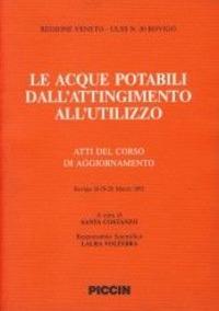 Le Le acque potabili dall'attingimento all'utilizzo. Atti del Corso di aggiornamento (Rovigo, 18-20 marzo 1992) - - wuz.it