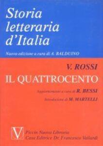 Storia letteraria d'Italia. Vol. 6: Il Quattrocento.