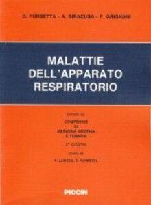 Foto Cover di Malattie dell'apparato respiratorio, Libro di AA.VV edito da Piccin-Nuova Libraria