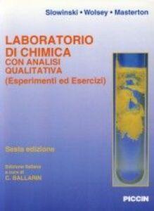 Laboratorio di chimica con analisi quantitativa