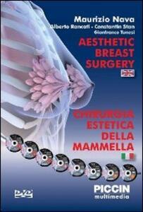 Chirurgia estetica della mammella. DVD-ROM. Ediz. multilingue - Maurizio Nava - copertina