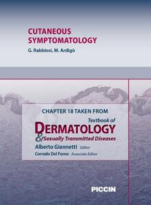 Cutaneous symptomatology. Chapter 18 taken from Textbook of dermatology & sexually trasmitted diseases