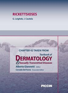 Rickettsioses. Chapter 42 taken from Textbook of dermatology & sexually trasmitted diseases