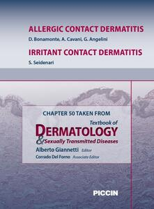 Allergic contact dermatitis-Irritant contact dermatitis. Chapter 50 taken from Textbook of dermatology & sexually trasmitted diseases