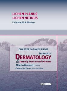Lichen planus-Lichen nitidus. Chapter 66 taken from Textbook of dermatology & sexually trasmitted diseases