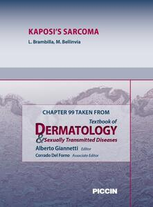 Kaposi's sarcoma. Chapter 99 taken from Textbook of dermatology & sexually trasmitted diseases