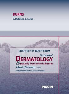 Burns. Chapter 104 taken from Textbook of dermatology & sexually trasmitted diseases