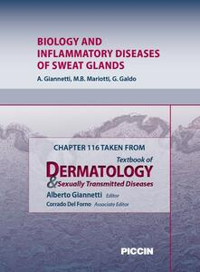 Biology and inflammatory diseases of sweat glands. Chapter 116 taken from Textbook of dermatology & sexually trasmitted diseases