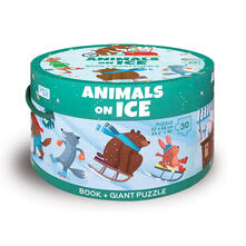 Filippodegasperi.it Animals on ice. Ediz. a colori. Con puzzle Image
