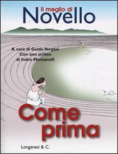 Libro Come prima Giuseppe Novello