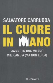 Il cuore in mano. Viaggio in una Milano che cambia (ma non lo sa) - Salvatore Carrubba - copertina