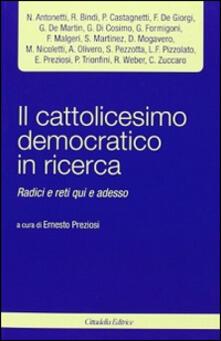 Ristorantezintonio.it Il cattolicesimo democratico in ricerca. Radici e reti qui e adesso Image