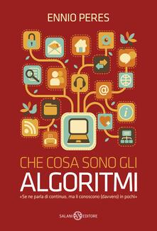 Che cosa sono gli algoritmi - Ennio Peres - copertina