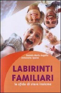 Foto Cover di Labirinti familiari. La sfida di stare insieme, Libro di Daniela M. Augello,Antonella Spanò, edito da Città Nuova