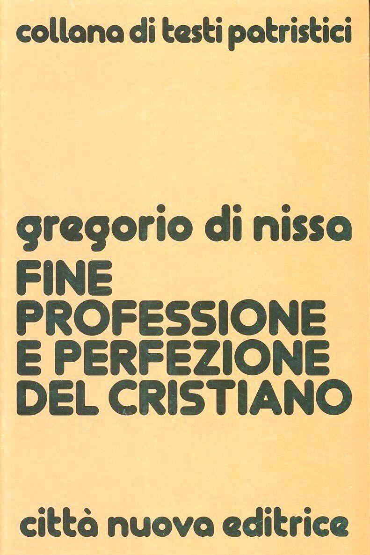Fine, professione e perfezione del cristiano