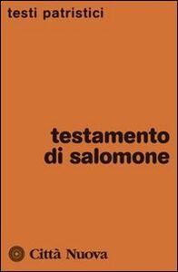 Foto Cover di Testamento di Salomone, Libro di  edito da Città Nuova