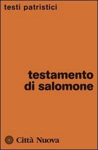 Libro Testamento di Salomone