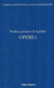 Libro Opere. Ritmi e carmi. Vol. 2 Paolino di Aquileia