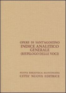 Indice analitico generale (riepilogo)
