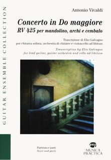 Capturtokyoedition.it Concerto in Do maggiore RV425 per mandolino, archi e cembalo Image