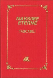 Foto Cover di Massime eterne, Libro di  edito da Paoline Editoriale Libri
