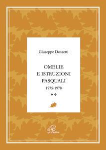 Omelie e istruzioni pasquali 1975-1978