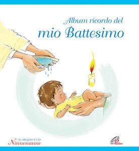 Libro Album ricordo del mio battesimo. Azzurro. Con CD Audio