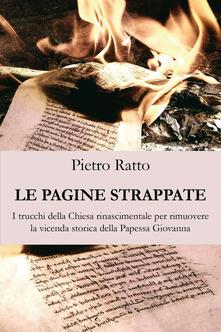 Le pagine strappate - Pietro Ratto - copertina