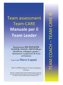 Team assessment team-CARE. Manuale per team leader - Marco Laganà - copertina