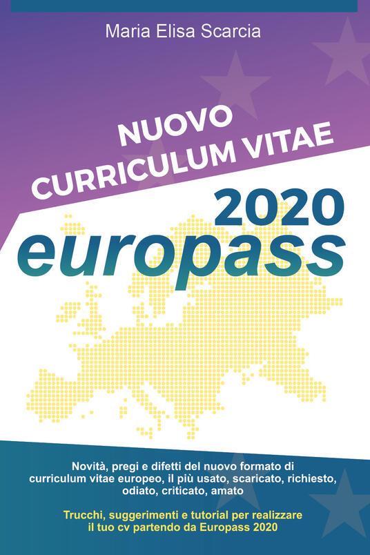 Nuovo curriculum vitae Europass 2020 - Maria Elisa Scarcia - copertina
