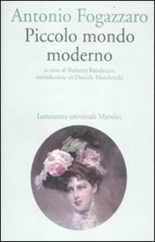 Piccolo mondo moderno - Antonio Fogazzaro - copertina