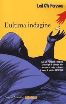 L' ultima indagine - Leif G. W. Persson - copertina