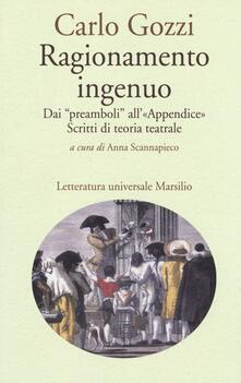 Ragionamento ingenuo. Dai «preamboli» all«appendice». Scritti di teoria teatrale.pdf