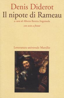 Il nipote di Rameau. Testo francese a fronte - Denis Diderot - copertina