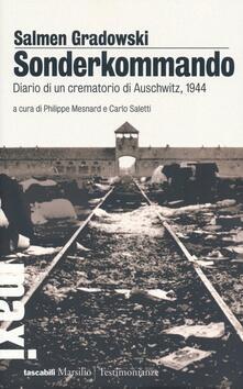 Sonderkommando. Diario di un crematorio di Auschwitz, 1944 - Salmen Gradowski - copertina