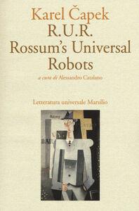 Libro R.U.R. Rossum's Universal Robots Karel Capek