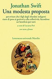 Una modesta proposta - Jonathan Swift - copertina