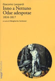 Inno a Nettuno-Odae adespotae (1816-1817) - Giacomo Leopardi - copertina