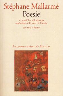 Poesie. Testo francese a fronte - Stéphane Mallarmé - copertina