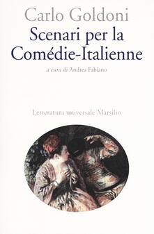 Scenari per la Comédie-Italienne - Carlo Goldoni - copertina