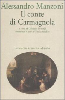 Il conte di Carmagnola - Alessandro Manzoni - copertina