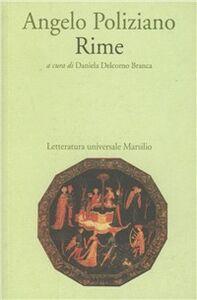 Foto Cover di Rime, Libro di Angelo Poliziano, edito da Marsilio